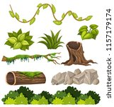 A Set Of Forest Elements...
