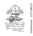 hand drawn vector illustration... | Shutterstock .eps vector #1157188117