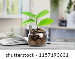 money saving growth to profit... | Shutterstock . vector #1157193631