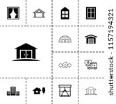 exterior icon. collection of 13 ... | Shutterstock .eps vector #1157194321