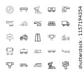 traffic icon. collection of 25...   Shutterstock .eps vector #1157194354
