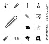 degree icon. collection of 13... | Shutterstock .eps vector #1157196694