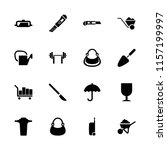 handle icon. collection of 16... | Shutterstock .eps vector #1157199997