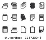 documents icons set | Shutterstock .eps vector #115720045