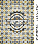 free admission arabic badge.... | Shutterstock .eps vector #1157205424