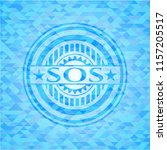 sos sky blue emblem with... | Shutterstock .eps vector #1157205517