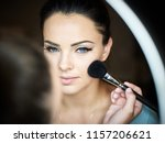 make up artist doing...   Shutterstock . vector #1157206621
