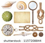 set of nautical  collection of... | Shutterstock . vector #1157208844