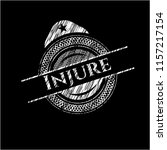 injure written with chalkboard... | Shutterstock .eps vector #1157217154