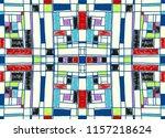 geometric background in... | Shutterstock .eps vector #1157218624