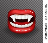 woman vampire tooth stylish... | Shutterstock .eps vector #1157238487