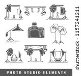 set of elements of the photo... | Shutterstock .eps vector #1157241211