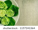 close up of slice or cut green...   Shutterstock . vector #1157241364
