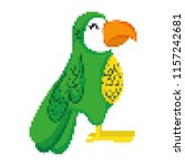 pixelated exotic parrot bird... | Shutterstock .eps vector #1157242681