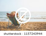 summer relax vacation and... | Shutterstock . vector #1157243944