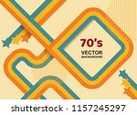70s background vintage retro.... | Shutterstock .eps vector #1157245297