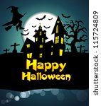 vector halloween background | Shutterstock .eps vector #115724809