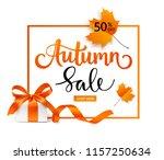 autumn sale template design.... | Shutterstock .eps vector #1157250634