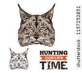 lynx animal sketch for hunting... | Shutterstock .eps vector #1157252851