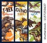 dinosaur adventure park banner... | Shutterstock .eps vector #1157253637
