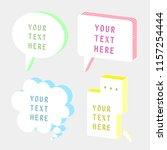 set of 3d speech bubble balloon ... | Shutterstock .eps vector #1157254444