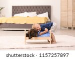 little boy playing with... | Shutterstock . vector #1157257897
