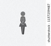 female silhouette  woman icon....   Shutterstock .eps vector #1157259487