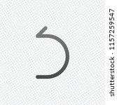 simple arrow  backward. linear  ... | Shutterstock .eps vector #1157259547