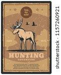 hunting adventure retro grunge... | Shutterstock .eps vector #1157260921