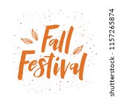 fall festival   hand drawn... | Shutterstock .eps vector #1157265874