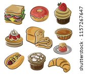 bakery icon set in doodle style | Shutterstock .eps vector #1157267647