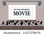 people in the cinema hall... | Shutterstock .eps vector #1157278474