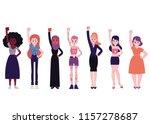 girl power vector illustration... | Shutterstock .eps vector #1157278687