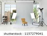 interior of modern photo studio ...   Shutterstock . vector #1157279041