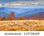colorful autumn landscape in... | Shutterstock . vector #115728109