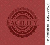 facility red emblem. retro | Shutterstock .eps vector #1157284474