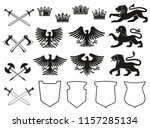 heraldic element set of bird ... | Shutterstock .eps vector #1157285134