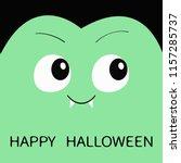 happy halloween. count dracula... | Shutterstock .eps vector #1157285737