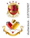 vector 3d realistic tailor... | Shutterstock .eps vector #1157292907