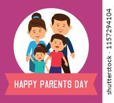 happy parent's day concept.... | Shutterstock .eps vector #1157294104