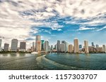 aerial view of miami... | Shutterstock . vector #1157303707