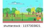 park scene and background...   Shutterstock .eps vector #1157303821