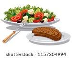 illustration of fresh greek... | Shutterstock .eps vector #1157304994
