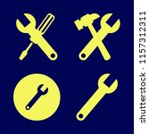 spanner vector icons set. with... | Shutterstock .eps vector #1157312311