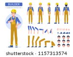 construction worker character ... | Shutterstock .eps vector #1157313574