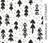 winter forest seamless vector... | Shutterstock .eps vector #1157316037