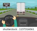 driving a car. hands holding a... | Shutterstock .eps vector #1157316061