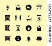 dark vector icons set. with... | Shutterstock .eps vector #1157319094