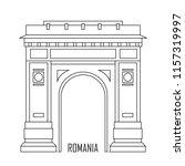 triumphal arch in bucharest ... | Shutterstock .eps vector #1157319997
