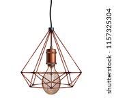 decorative edison light bulb in ... | Shutterstock .eps vector #1157325304